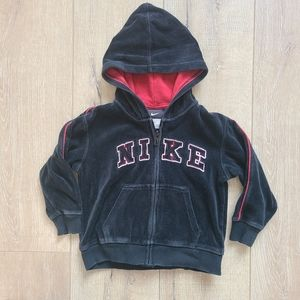 (3/$15)Nike Black and Red Velour Basketball Hoodie